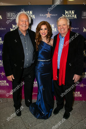 Michael Linnet (Producer), Cassidy Janson (Aldonza/Dulcinea) and Michael Grade (Producer)