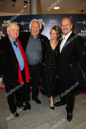 Stock Photo of Michael Grade (Producer), Michael Linnet (Producer), Kayte Walsh and Kelsey Grammer (Miguel de Cervantes/Don Quixote)