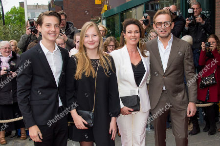 Stock Image of Prince Bernhard and Princess Annette and Isabella and Samuel