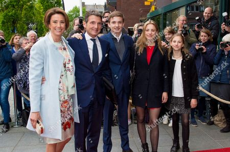 Prince Maurits with Princess Marilene and Anna, Lucas and Felicia