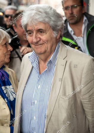 Tom Conti seen the Man of La Mancha opening night at the London Coliseum in London.