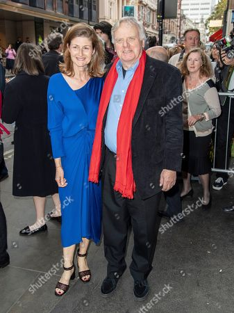 Penelope Levinson and Michael Grade are seen the Man of La Mancha opening night at the London Coliseum in London