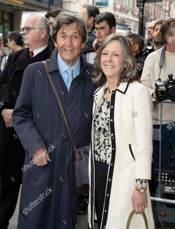 Melvyn Bragg and Gabreil Clare, Hunt are seen the Man of La Mancha opening night at the London Coliseum in London