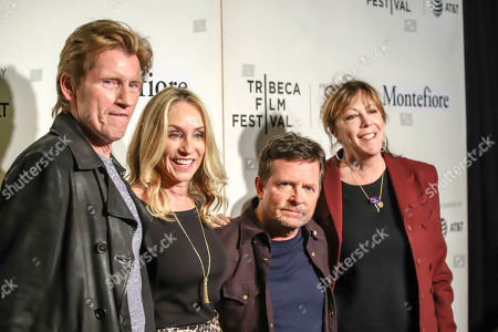 Denis Leary, Tracy Pollan, Michael J Fox and Jane Rosenthal