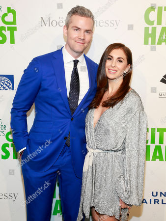 Ryan Serhant, Emilia Serhant. Ryan Serhant, left, and Emilia Serhant, right, attend City Harvest's 36th annual benefit gala at Cipriani 42nd Street, in New York