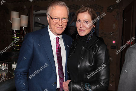 Stock Photo of Chuck Scarborough with Wife
