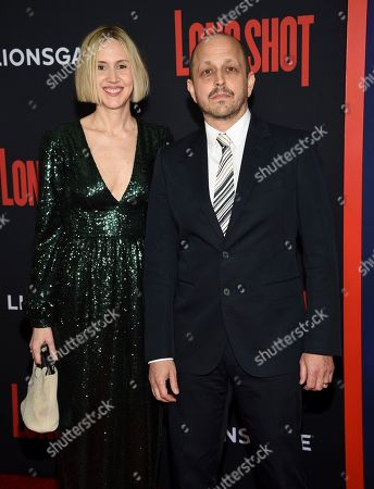 "Stock Picture of Dan Sterling, right, and guest attend the premiere of ""Long Shot"" at AMC Loews Lincoln Square, in New York"