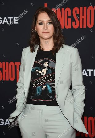 """Liz Hannah attends the premiere of """"Long Shot"""" at AMC Loews Lincoln Square, in New York"""
