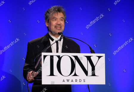 David Henry Hwang participates in the 73rd annual Tony Awards nominations announcement at the New York Public Library for the Performing Arts at Lincoln Center, in New York