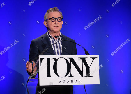 Thomas Schumacher participates in the 73rd annual Tony Awards nominations announcement at the New York Public Library for the Performing Arts at Lincoln Center, in New York