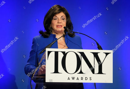 Charlotte St. Martin participates in the 73rd annual Tony Awards nominations announcement at the New York Public Library for the Performing Arts at Lincoln Center, in New York