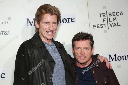 "Denis Leary, Michael J Fox. Actors Denis Leary, left, and Michael J Fox attend ""Tribeca Talks - StoryTellers: Michael J Fox with Denis Leary "" during the 2019 Tribeca Film Festival at the Tribeca Performing Arts Center, in New York"
