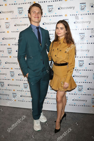 "Stock Image of Ansel Elgort, Violetta Komyshan. Ansel Elgort and Violetta Komyshan attend the Natural Resources Defense Council's ""Night of Comedy"" benefit at the New-York Historical Society, in New York"