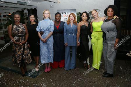 Uzo Aduba, Jessica Pimental, Taylor Schilling, Danielle Brooks, Natasha Lyonne, Selenis Leyva, Dascha Polanco and Adrienne C. Moore