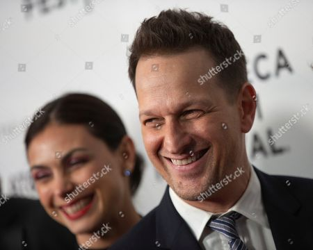 "Morena Baccarin, Josh Charles. Actors Morena Baccarin, left, and Josh Charles attend the screening for ""Framing John DeLorean"" during the 2019 Tribeca Film Festival at the SVA Theatre, in New York"