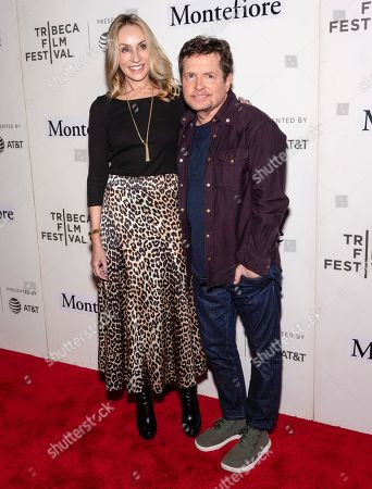 Stock Picture of Tracy Pollan and Michael J Fox