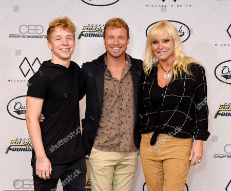 Baylee Littrell, Brian Littrell and wife Leighanne Wallace
