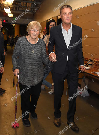 Stock Image of Michael W. Smith and mother Barbara Smith