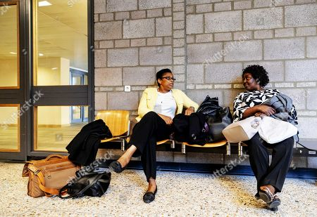 Esther Kiobel (L) and Victoria Bera (R) from Nigeria in court after the verdict in the trial of the Nigerian widows against Shell, in The Hague, the Netherlands, 01 May 2019. The two women accuse the oil company of human rights violations and involvement in the death of their spouses, who were hanged less than two weeks after the death sentence was pronounced. They believe that Shell bribed witnesses during a trial in the 90s.