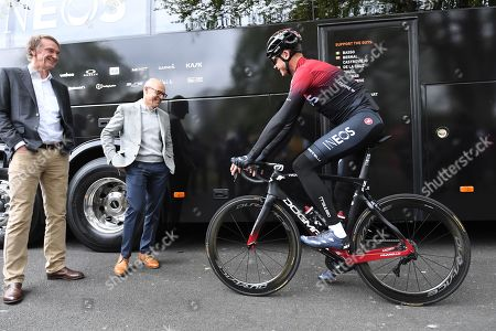 Sir Jim Ratcliffe, Sir David Brailsford and Chris Froome