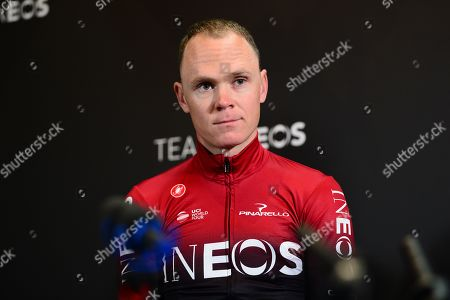 Editorial image of Cycling Team Ineos Launch. Linton,Yorkshire, UK - 01 May 2019