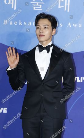 Yeo Jin-goo poses as he arrives for the 55th annual Baeksang Art Awards at the Coex mall in Seoul, South Korea, 01 May 2019. The award ceremony for the BaekSang Arts Awards is a comprehensive art prize that focuses on screenings of movies, TV, and other works of popular culture among the public.