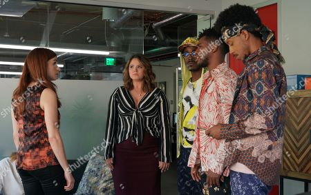 Aya Cash as Gretchen, Kether Donohue as Lindsay, Brandon Black as Honey Nutz 2, Brandon Mychal Smith as Sam and Darrell Britt-Gibson as Shitstain