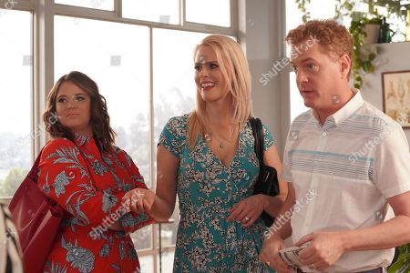 Kether Donohue as Lindsay, Janet Varney as Becca and Todd Robert Anderson as Vernon