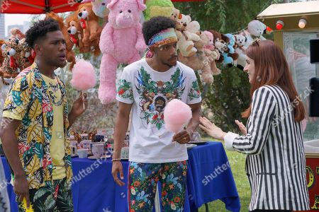 Brandon Mychal Smith as Sam, Darrell Britt-Gibson as Shitstain and Aya Cash as Gretchen