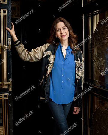 """This photo shows actress Jessica Hecht posing for a portrait at the JW Marriott Essex House in New York to promote her Netflix series """"Special"""