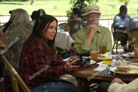 Stock Image of Pamela Adlon as Sam Fox and Bernie Kopell as Irwin