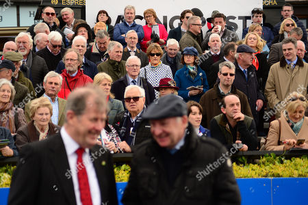 PUNCHESTOWN. Faces in the crowd as leading owners JP McManus and Graham Wylie have a chat.
