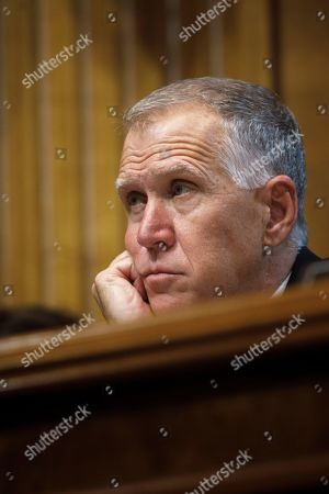 Senator Thom Tillis (R-N.C.) looks on as US Attorney General William Barr testifies before the Senate Judiciary Committee's hearing on 'The Justice Department's Investigation of Russian Interference with the 2016 Presidential Election' on Capitol Hill in Washington, DC, 01 May 2019. Attorney General Barr is facing questions from Senators for the first time since the release of special counsel Robert Mueller's Russia report on 18 April 2019.