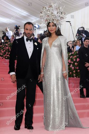 Stock Photo of Tom Ford and Gemma Chan