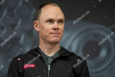 Christopher Froome of Team Ineos on stage during the Eve of Tour celebrations in Millennium square,Leeds