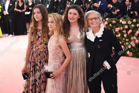 Sarah Cameron Leibovitz, Samuelle Rhinebeck, Susan Leibovitz and Annie Leibovitz