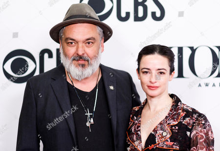 Playwright Jez Butterworth (L) and actress Laura Donnelly (R) pose during a press event for the 2019 Tony Award nominees in New York, New York, USA, 01 May 2019. Butterworth and Donnelly, who are married, are both nominated for their work on the play 'The Ferryman', Butterworth as the playwright, Donnelly as a lead actress.
