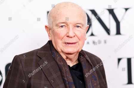 Playwright Terrence McNally poses during a press event for the 2019 Tony Award nominees in New York, New York, USA, 01 May 2019. The 2019 Tony Awards will be held on 09 June in New York.
