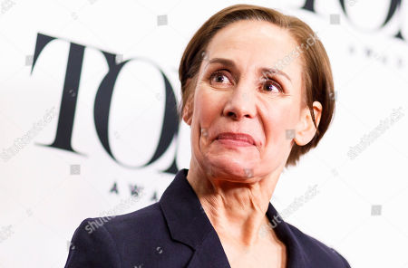 Laurie Metcalf, who is nominated for a Tony Award for her performance in 'Hillary and Clinton', poses during a press event for the 2019 Tony Award nominees in New York, New York, USA, 01 May 2019. The 2019 Tony Awards will be held on 09 June in New York.