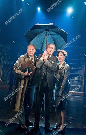 Hugh Bonneville as C.S. Lewis, Andrew Haville as Warnie, Liz White as Joy Gresham