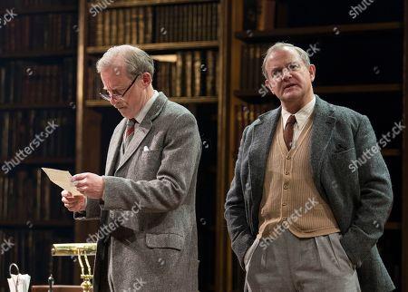 Stock Image of Andrew Havill as Warnie, Hugh Bonneville as C.S. Lewis,