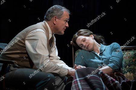 Stock Image of Hugh Bonneville as C.S. Lewis, Liz White as Joy Gresham