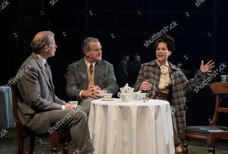 Stock Image of Andrew Havill as Warnie, Hugh Bonneville as C.S. Lewis, Liz White as Joy Gresham