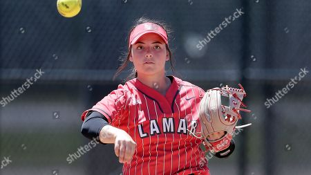 Lamar third base player Taylor Murphy during an NCAA softball game against Nicholls State on in Beaumont, Texas