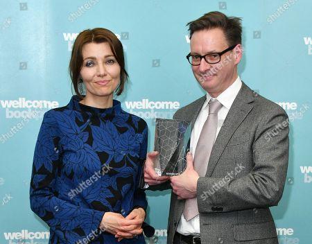 Judge Elif Shafak and Will Eaves, winner of Wellcome Book Prize 2019 winner