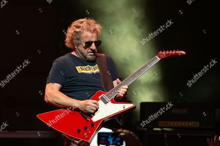 Musician Sammy Hagar performs in concert with The Circle at ACL Live