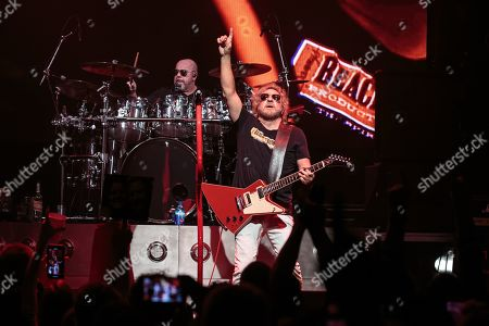 Musicians Jason Bonham and Sammy Hagar perform in concert with The Circle at ACL Live