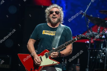 Stock Photo of Musician Sammy Hagar performs in concert with The Circle at ACL Live