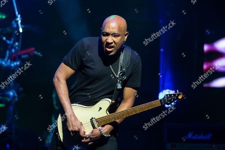 Musician Vic Johnson performs in concert with Sammy Hagar and The Circle at ACL Live