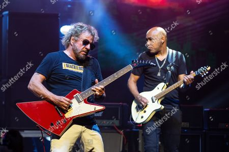 Musician Sammy Hagar and Vic Johnson perform in concert with The Circle at ACL Live